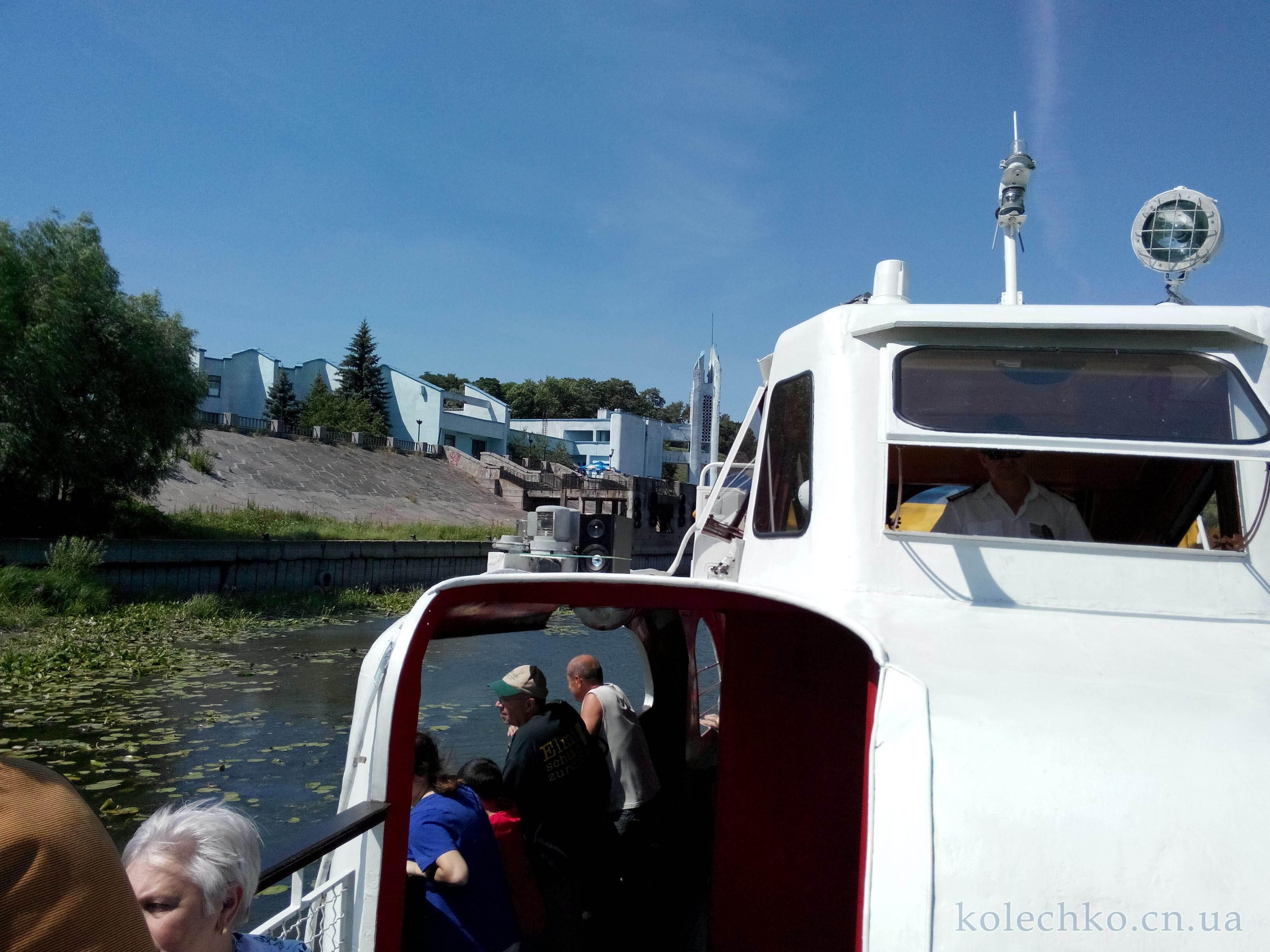выход на катере с порта Чернигова