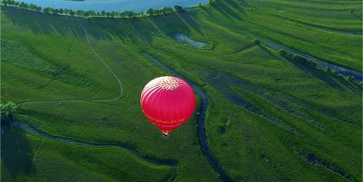 полет на шаре над Черниговской областью