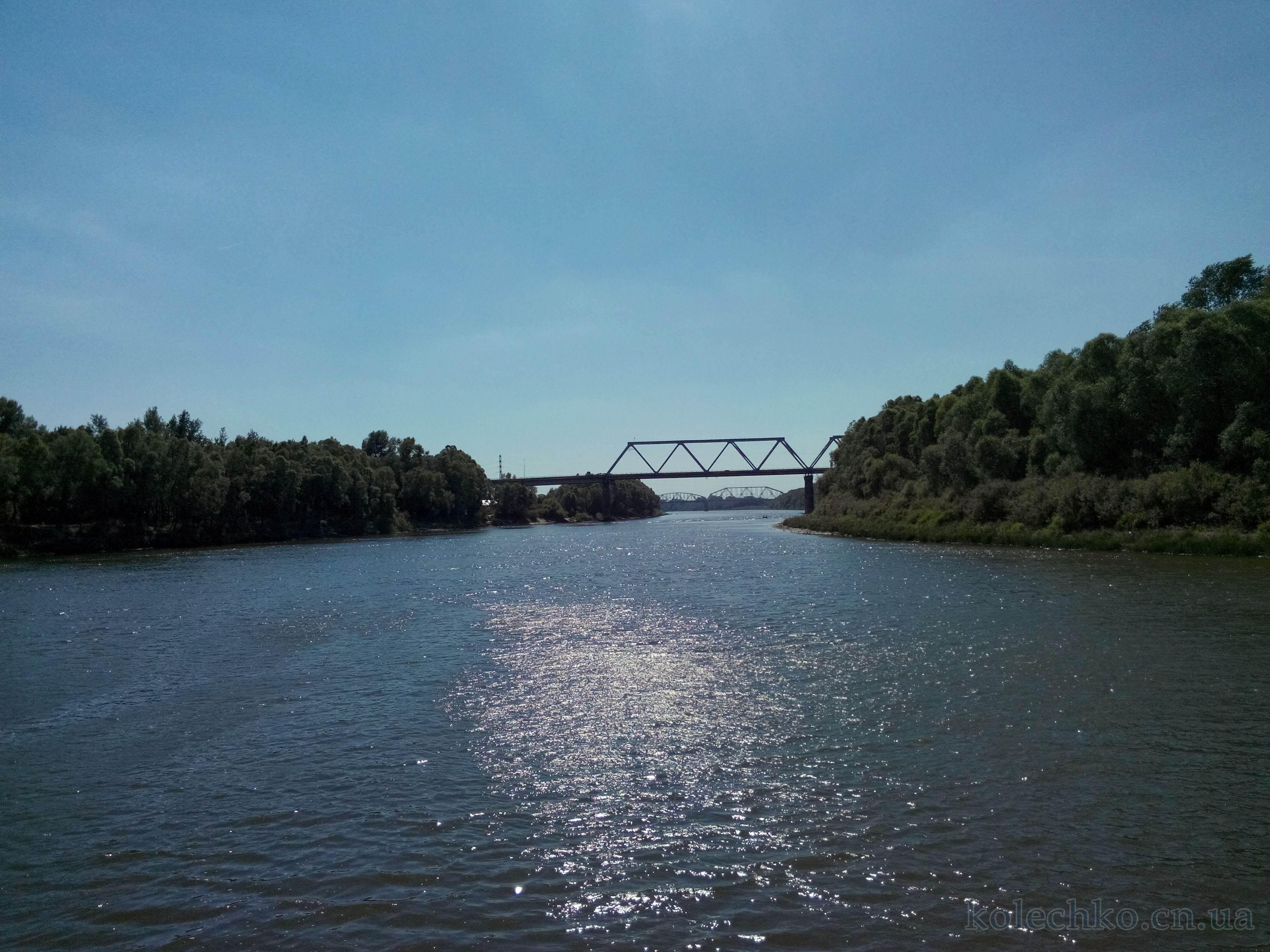 автодорожный и ж/д мост через реку Десна