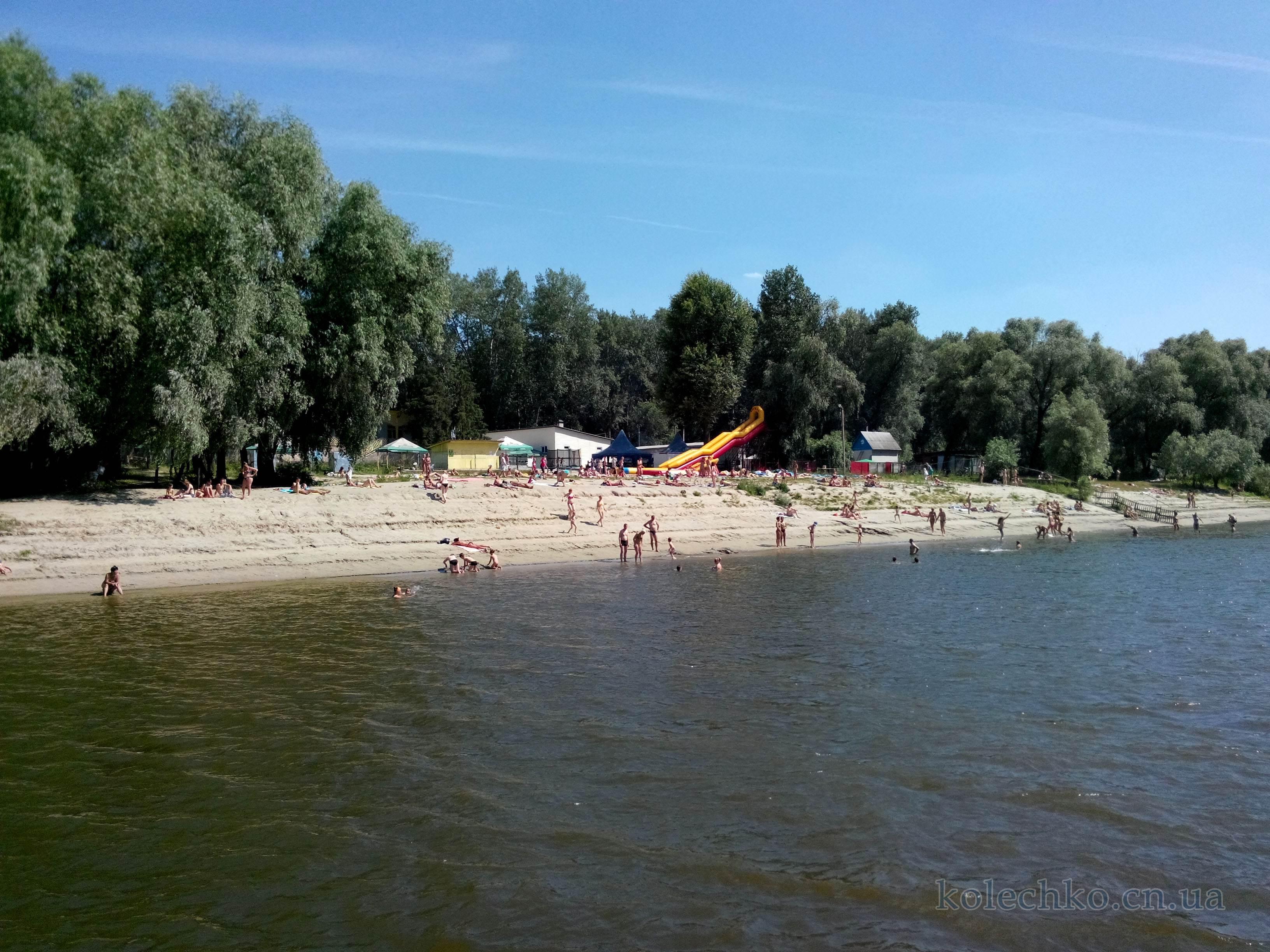 пляж не реке Десна в Чернигове