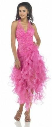 розовое платья на выпускной
