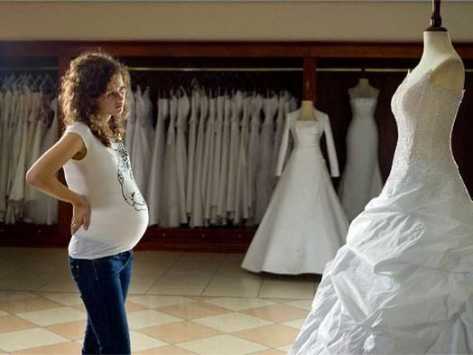 выбор свадебного платья беременной девушки