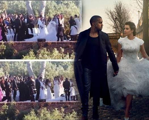 свадьба Кардашьян и Уэста