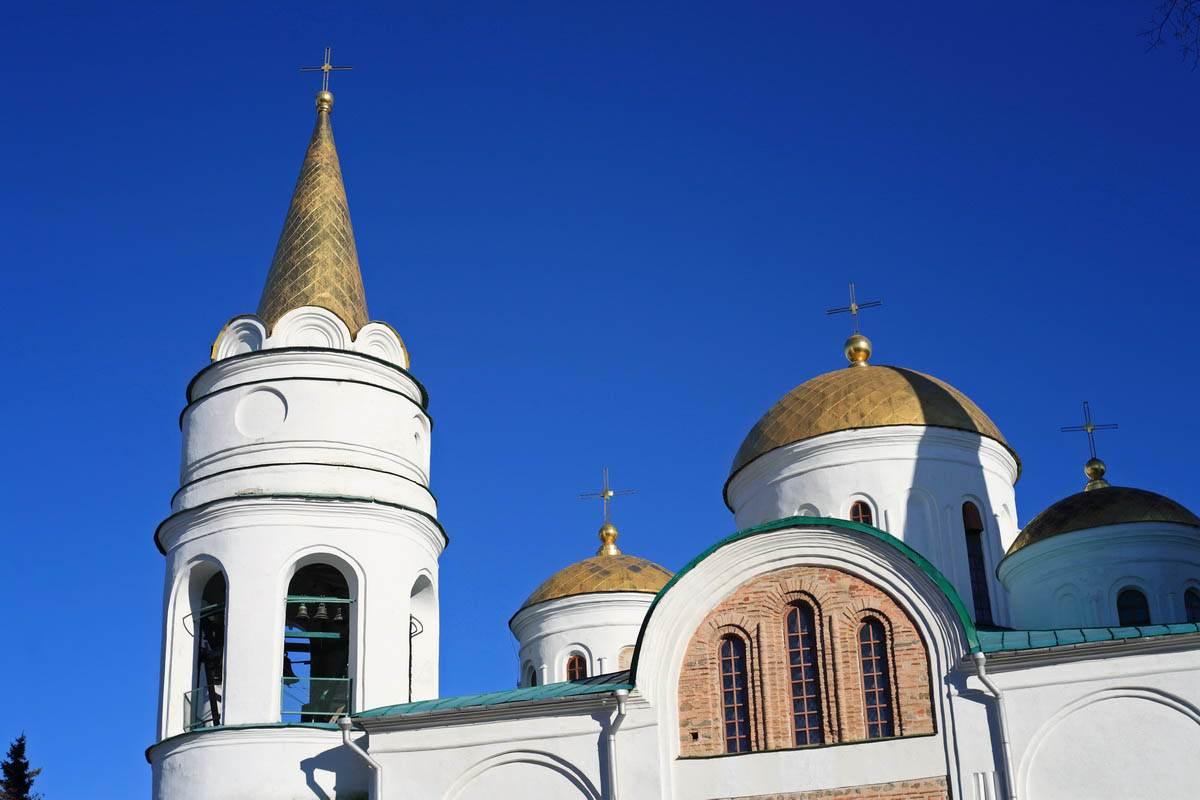 купола Спасского собора в Чернигове