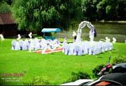 Церемония бракосочетания на берегу Десны