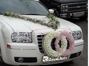 авто украшено на свадьбе