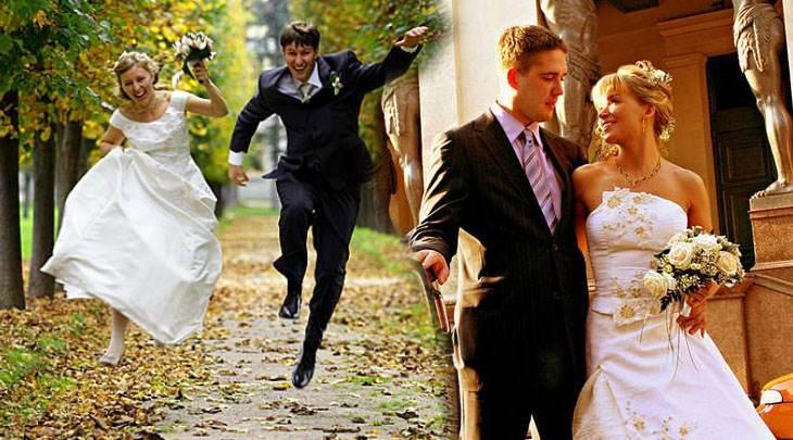 свадебное фото молодых