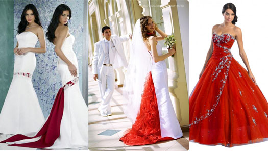 Wedding Saloon :: Свадебное платье красное - Свадебные платья и