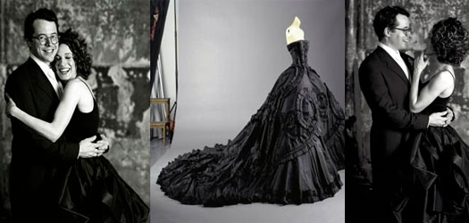 Но, несмотря на то, что черный цвет влился в свадебную моду и на некоторое время стал интересной тенденцией, такая традиция у многих невест не находила