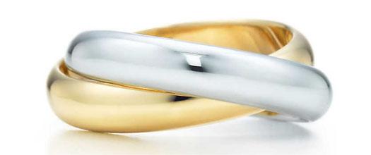 желто белое кольцо