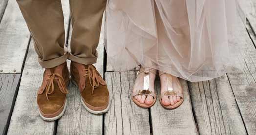 коричневая свадебная обувь